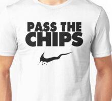 Pass the Chips - Nike Parody (Black) Unisex T-Shirt