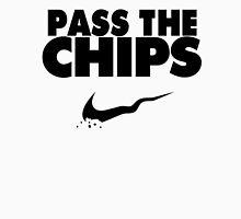 Pass the Chips - Nike Parody (Black) Unisex T-Shirt