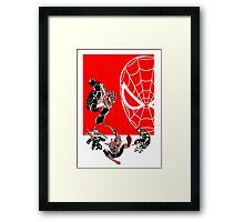 Spiderman Inspired Design  Framed Print