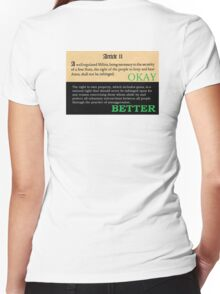 Equal in property or not at all! Women's Fitted V-Neck T-Shirt
