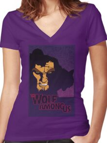 The Wolf Among Us Women's Fitted V-Neck T-Shirt