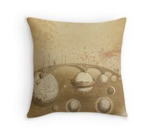 Grandville's Sepia Tea Sky Throw Pillow