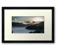 Rays On Wakatipu Framed Print