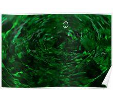 green ripples Poster