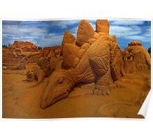 Prehistoric Sand Poster
