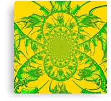 Green & Yellow Spiral Canvas Print