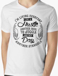EVERYDAY STRUGGLE Mens V-Neck T-Shirt