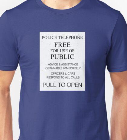TARDIS Door Sign  Unisex T-Shirt