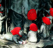 Jizo statues  by Tamara Travers