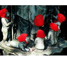 Jizo statues  Photographic Print