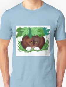 Cat Shelters under Maple Leaves  T-Shirt