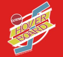 Back to the Future Hover Board Logo Kids Clothes