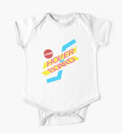 Back to the Future Hover Board Logo One Piece - Short Sleeve