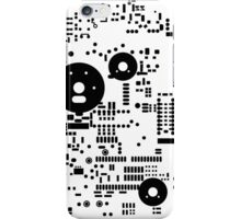 Motherboard Face - Black on White iPhone Case/Skin