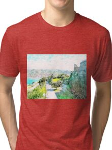 Agropoli: sea cost and castle Tri-blend T-Shirt