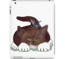 Blue Dragonfly and Kitten iPad Case/Skin