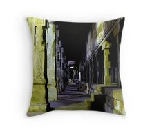 Madurai Temple at night Throw Pillow