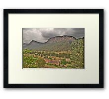 Guardians Of The Valley - Capertee Valley - The HDR Experience Framed Print