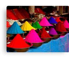 Colourful tikka powder Canvas Print