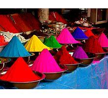 Colourful tikka powder Photographic Print