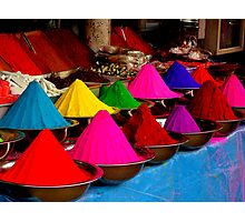 Colourful tikka powder Photographic Print