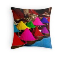 Colourful tikka powder Throw Pillow
