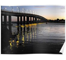 Captain Cook Bridge, Botany Bay, Sydney NSW Australia Poster