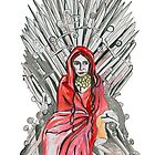 Red woman on the throne by drknice