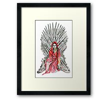 Red woman on the throne Framed Print