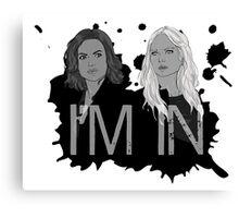 Regina and Emma - I'm In Canvas Print