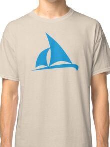 Blue sailing boat Classic T-Shirt