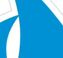 Blue sailing boat Sticker