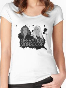 Regina and Emma - Operation Mongoose Women's Fitted Scoop T-Shirt
