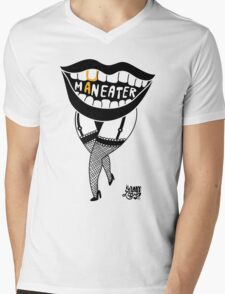 she's a maneater! Mens V-Neck T-Shirt