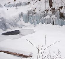 The Ice Wall at Wyandot Falls by Gene Walls