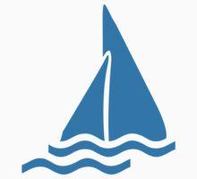 Blue sailing symbol One Piece - Short Sleeve