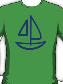 Blue sailing boat T-Shirt