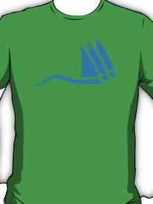Blue sailing icon T-Shirt