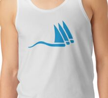 Blue sailing icon Tank Top