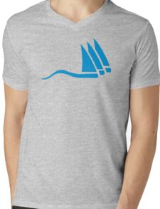 Blue sailing icon Mens V-Neck T-Shirt
