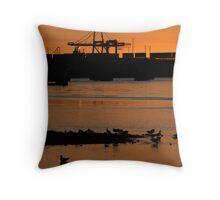 Fremantle port Throw Pillow