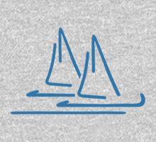 Blue sail ship One Piece - Long Sleeve