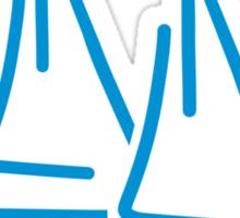 Blue sail ship Sticker