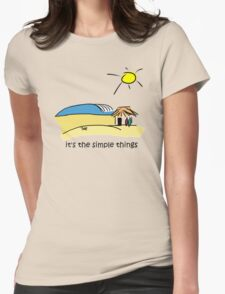 Simple Things - Surf Shack Womens Fitted T-Shirt