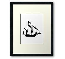 Sailing boat ship Framed Print