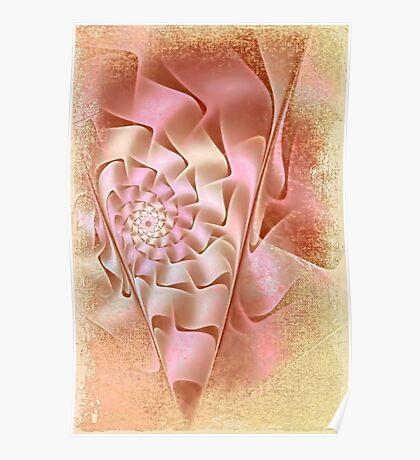 Tea Rose Spiral  Poster