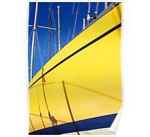 Boatyard yellow Poster