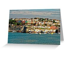 The Golden Hour Of Brixham, England Greeting Card