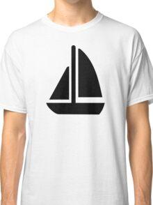 Sail boat symbol Classic T-Shirt