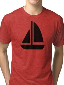 Sail boat symbol Tri-blend T-Shirt
